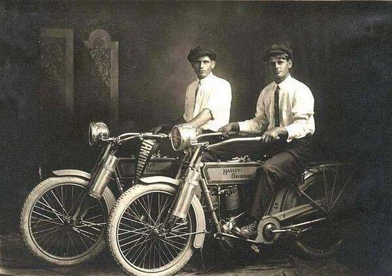 1.) William Harley and Arthur Davidson (1914).