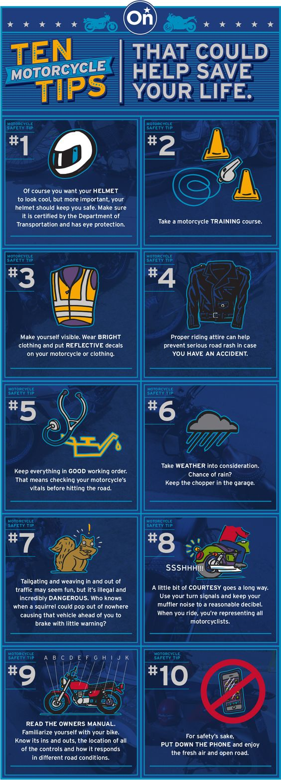 10 motorcycle safety tips that could help save your life!  | #safety #tips