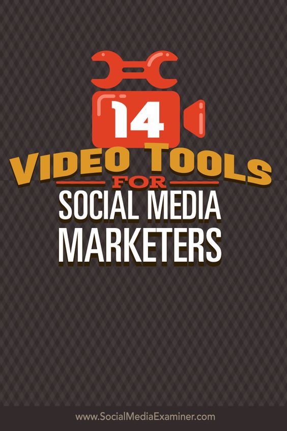14 #video tools for #socialmedia