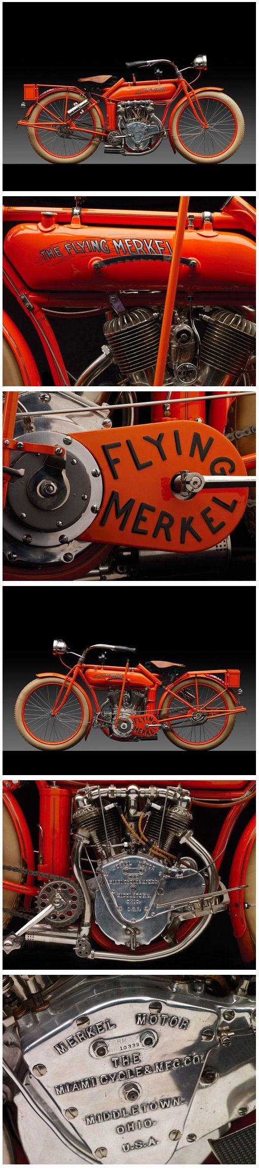 1914 Merkel Model 471 Flying Merkel Motorcycle. Merkel Motorcycles (1902-1917). Middletown, Ohio.