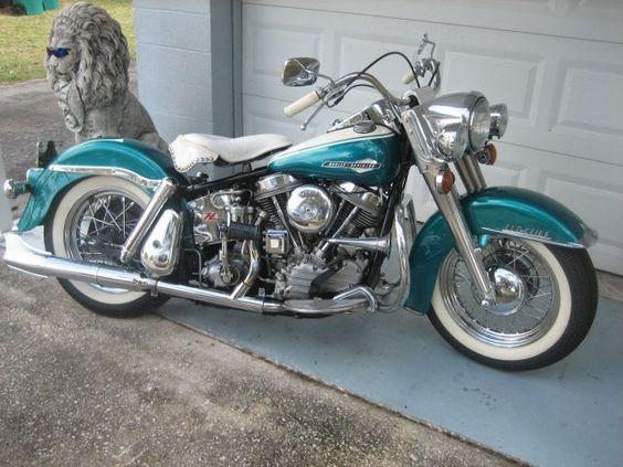 1963 Harley-Davidson 1200 Touring , turquoise/white,