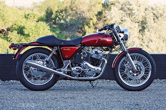 1974 Norton Commando - pretty, but a bike that isn't nearly as good as it looks like it should be.