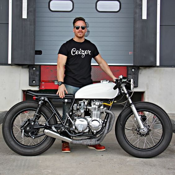 1976 Honda CB550 Cafe Racer by Ironwood Custom Motorcycles #caferacer #bratstyle