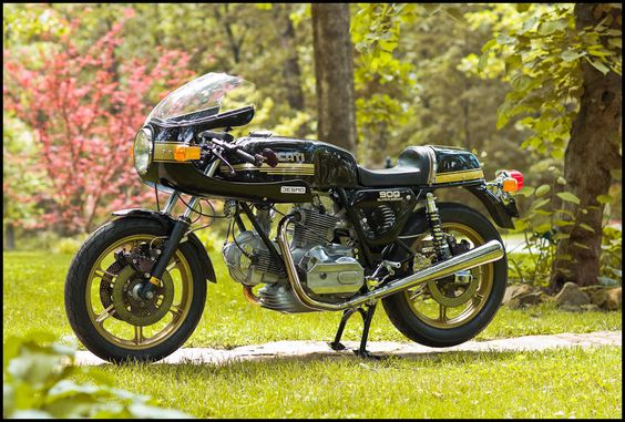 1980 Ducati 900 Super Sport - the black and gold version is one of my favorites. This particular bike was restored using lots of hard to find parts supplied by Bevel Heaven.
