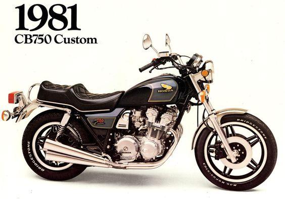 1981 HONDA CB750 CUSTOM MOTORCYCLE BROCHURE -CB 750 C-HONDA CB750C in eBay Motors | eBay