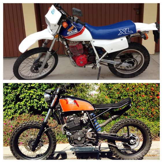 1987 Honda XL600R Top - June 2013 Bottom - February 2014