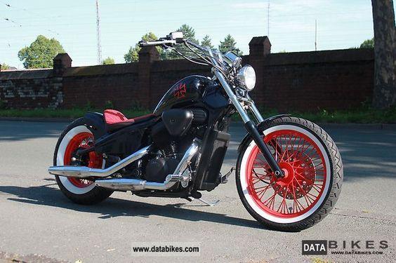 1993 Honda VT 600 Shadow Custom Bobber Motorcycle Chopper/Cruiser photo