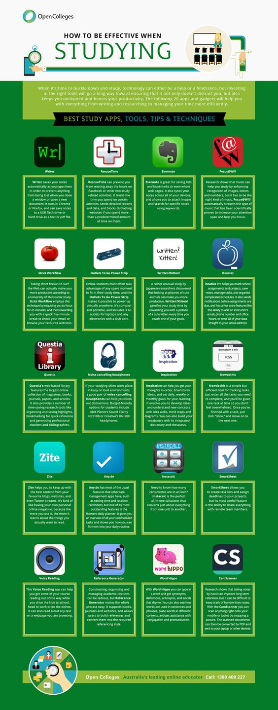 20 apps and tips to help students study better
