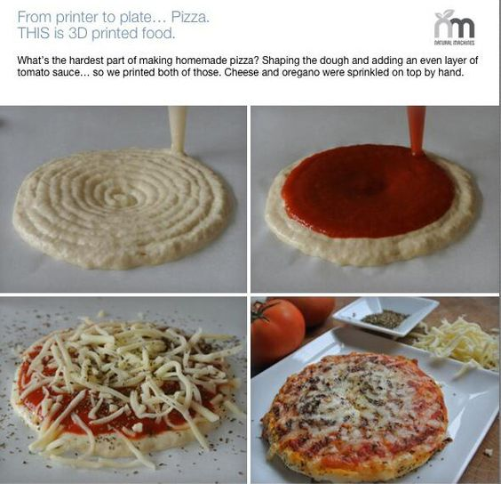 3-D-printed pizza by Mr Clean Magic