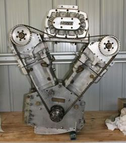 5000cc Merlin V-twin motorcycle engine