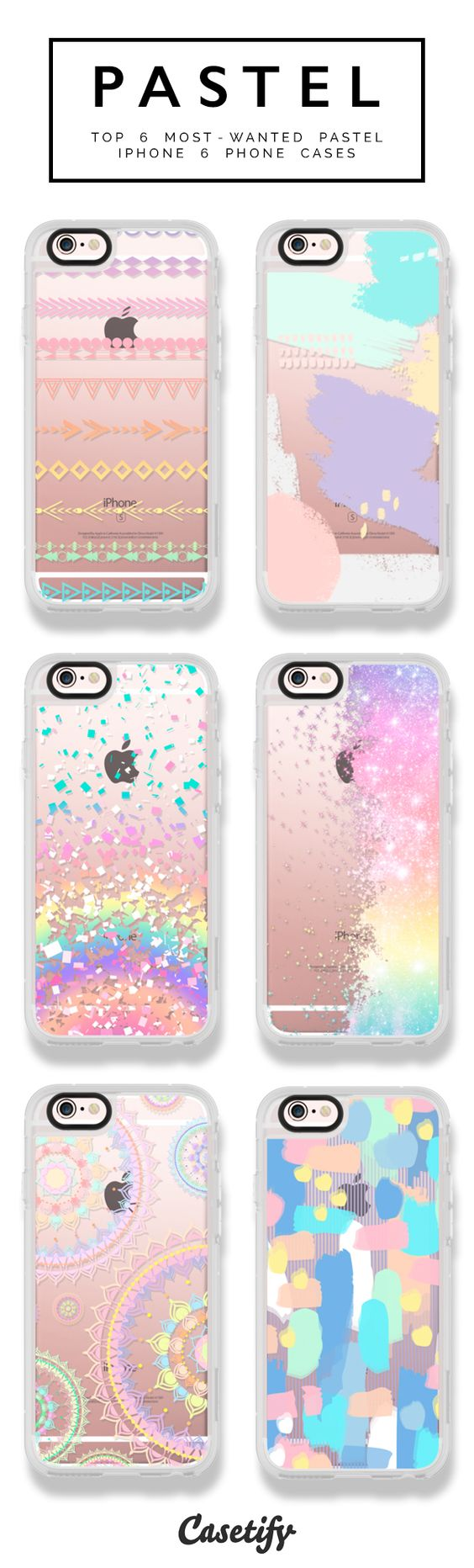 6 most wanted pastel iPhone 6 phone cases | Click through to shop   #phonecase #protective #color #palette | @Casetify