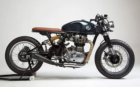 8negro: Royal Enfield Continental:: KR Customs.