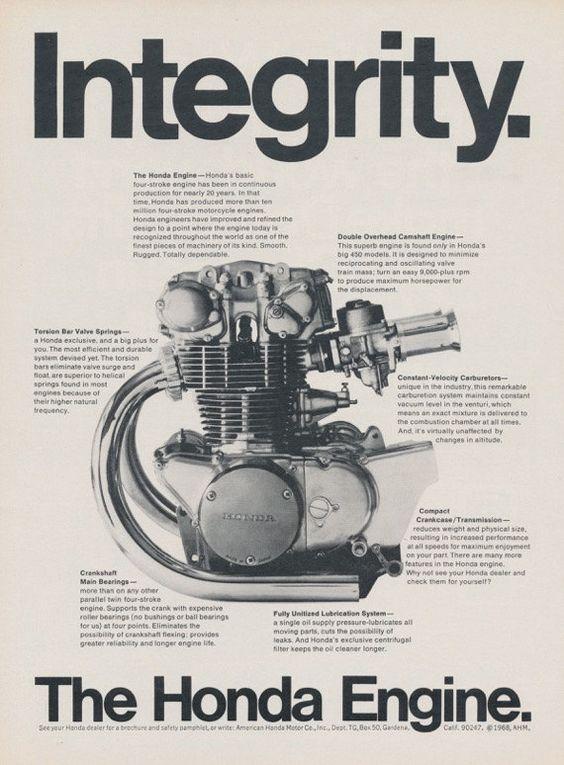 968 Honda CB-450 Motorcycle Engine