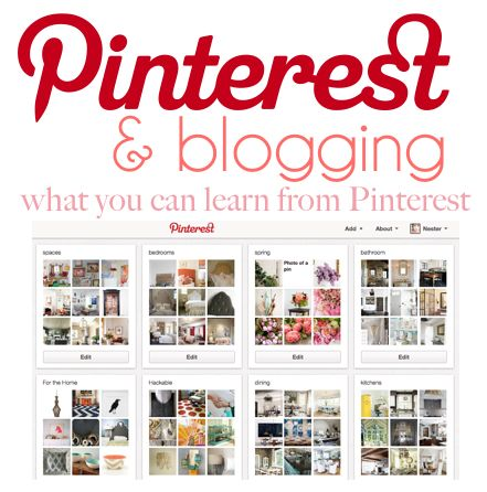 A Post - on how to use Pinterest with your blog.