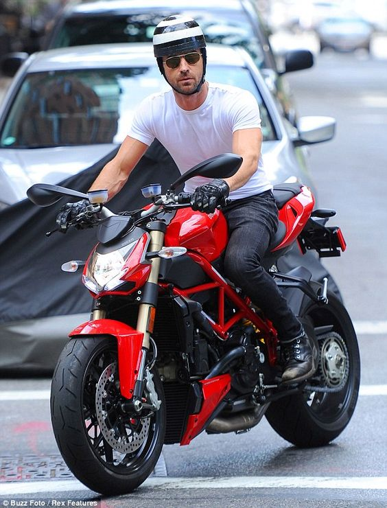 A seasoned rider: Justin has been spotted cruising about on motorcycles a lot in the past