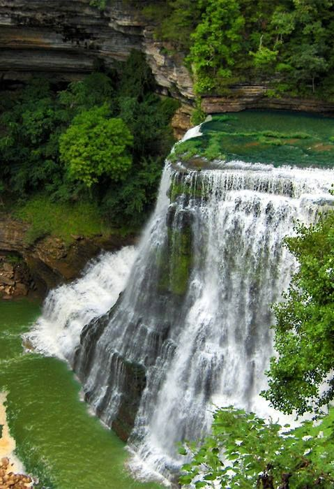 A Tennessee waterfall that looks like it belongs in the Amazon.