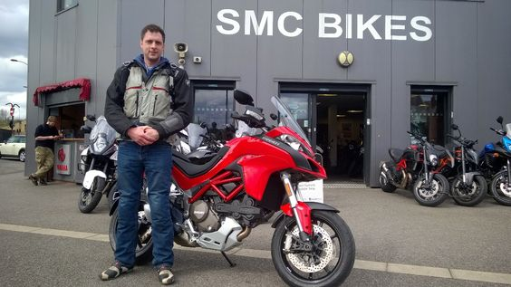 Andy with his new #Ducati #Multistrada. Let the adventures begin! Thanks again Andy :)