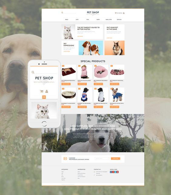 #Animals and #Pets #OnlineStore #Ecommerce #Theme