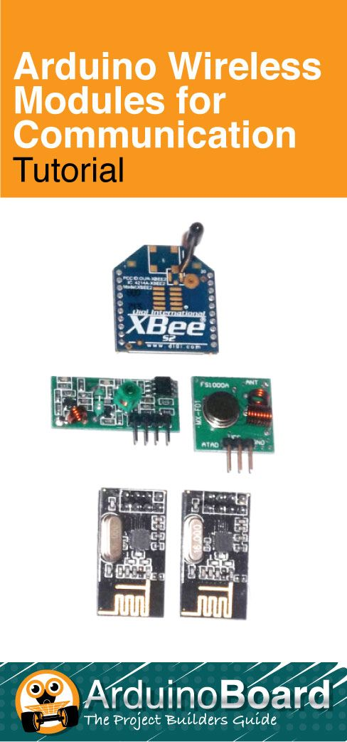 Arduino Wireless Modules for Communication - CLICK HERE for Tutorial