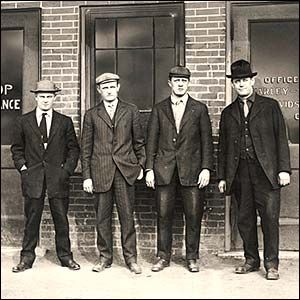 Arthur Davidson, Walter Davidson, William Harley and William Davidson - founders of Harley Davidson.