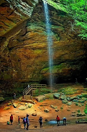 Ash Cave - Hocking Hills State Park - Ohio. (so many other things to see in this park too) ---- (fall)