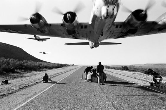 B-17 at low level followed by P-51 Mustang and F-4F Wildcat. One of the most stunning aviaton photos