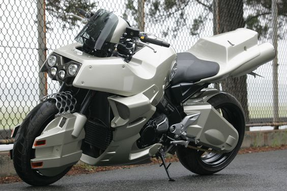 BDS Bike Buffet transformed a Suzuki B-King into the transforming motorcycle from the anime series Mospeada.
