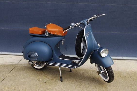 Beautiful Vespa restoration.