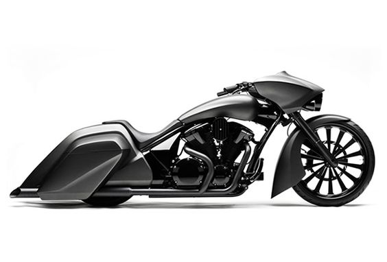 beautifull, creative, design, engine, industrial, machine, motorcycles,Honda Stateline Slammer Bagger Concept