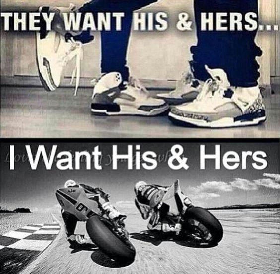 Because riding a bike next to your man is the greatest feeling in the world. And it shows trust.