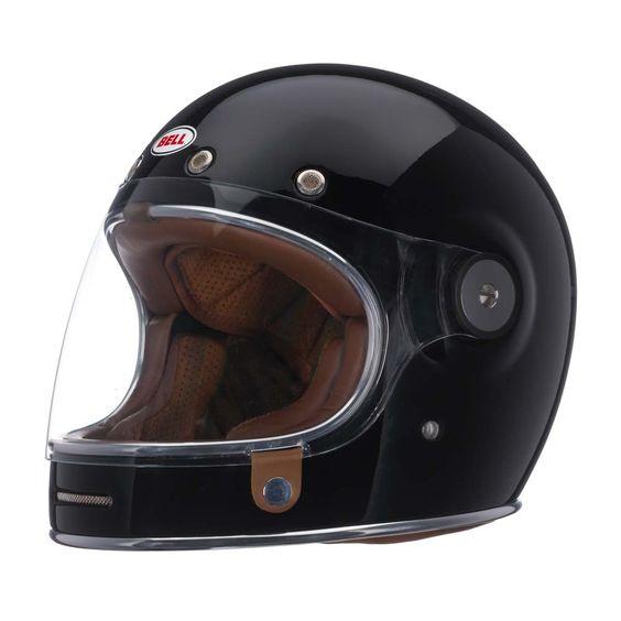 Bell Bullitt Helmet - Solid Black | Full Face Motorcycle Helmets | FREE UK delivery - The Cafe Racer