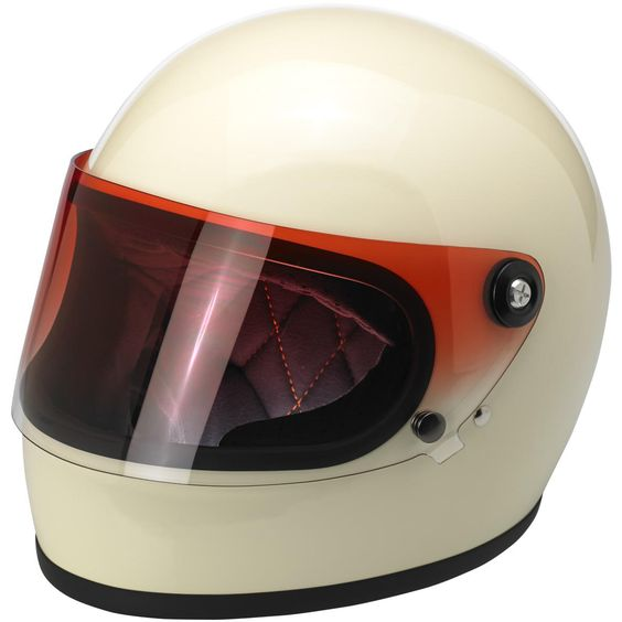 Biltwell Gringo S Flat Shield - Red Gradient — Injection-molded polycarbonate shields in solid, gradient and reflective finishes. Universally fits all Gringo S helmet sizes. 1 stainless steel snap secures the shield while in the down position. UV Tested: Biltwell Blast Shields are UV rated at UV +50 with over 92% UVA block and over 99% UVB block. Shields were evaluated for UV resistance as per test method AATCC 183.