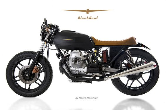 """Black Boot"" Moto Guzzi V35 from personal garage 