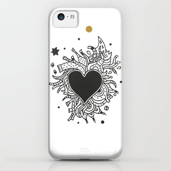 Black Heart iPhone & iPod Case