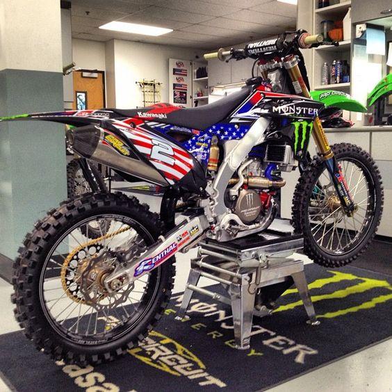 Blake Baggett's 2012 Monster Energy Motocross of Nations Pro Circuit Kawasaki!