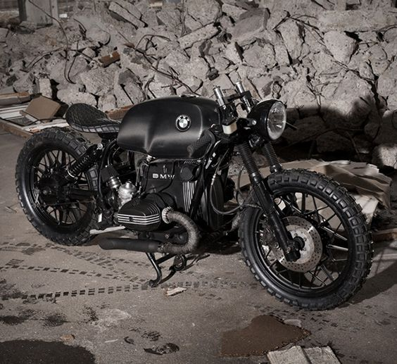 BMW R100S Black Baron  Our latest custom motorbike crush is this beastly beamer by Denmark's Relic Motorcycles. The donor bike started as a BMW R100S (it was actually an old police bike) from the 80s, and was striped to its essentials.