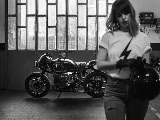 BMW R80 Cafe Racer - Iron Pirate Garage #motorcyclesgirls #chicasmoteras |