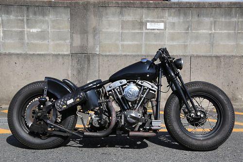 Bobber Inspiration | Harley-Davidson FLH bobber | Bobbers and Custom Motorcycles
