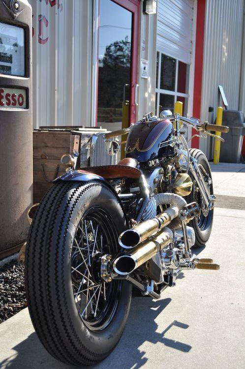 Bobber Inspiration   Harley Shovelhead bobber   Bobbers and Custom Motorcycles