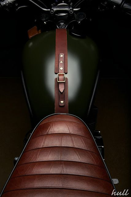 Brown Leather and British Racing Green - A Gentleman's Motorcycle.