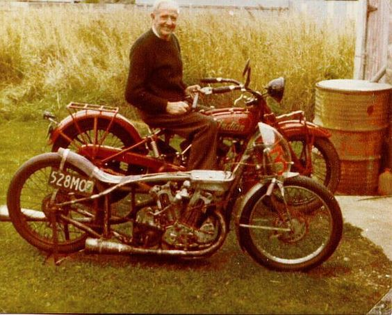 Burt Munro & his Indian Scout 1920
