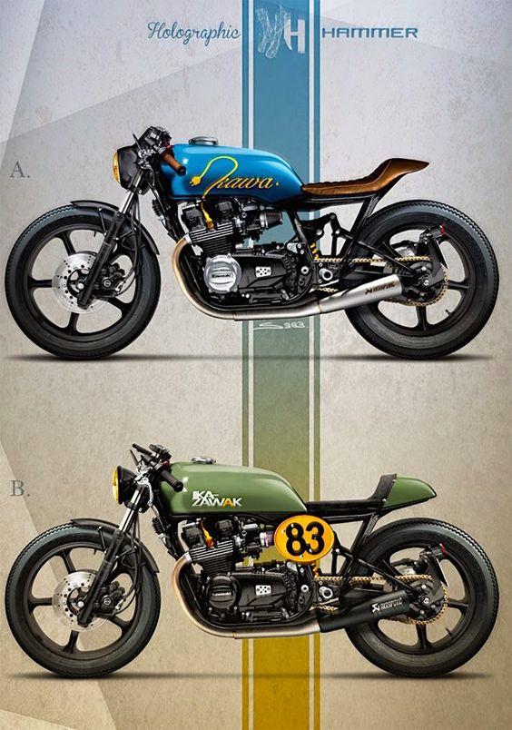 Cafè Racer Concepts - Kawasaki GPZ 400 by Holographic Hammer