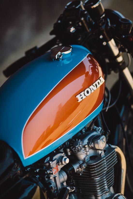 caferacerbursa:Bane – Jules' CB500 Four Cafe Racer #motorcycles #caferacer #motos |