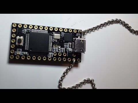 Called the USBdriveby, it's basically a USB microcontroller that is small enough to be worn as a necklace. It will connect to computers via USB and is designed to take advantage of the security flaws found in USB ports.