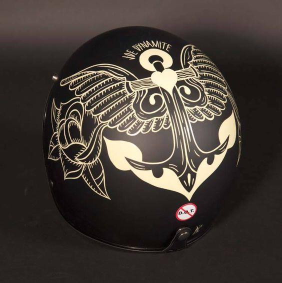 Casque / helmet biltwell / Design : Bruno allard pour gentlemen's Factory / Photo :