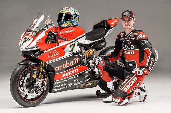 Chaz Davies with his 2015 Ducati