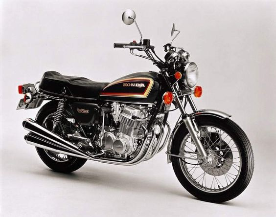 Circa 1969 Honda CB750. It gave me great service for many years.