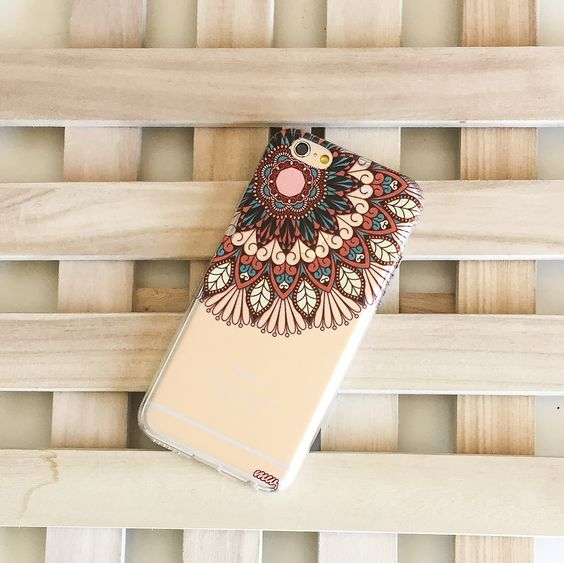Clear TPU Case Cover - Henna Floral Mandala – Milkyway