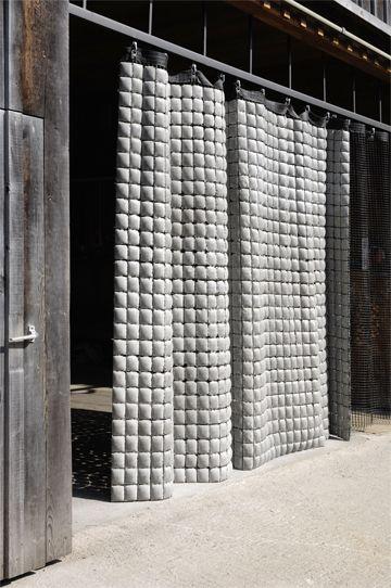 Concrete curtains