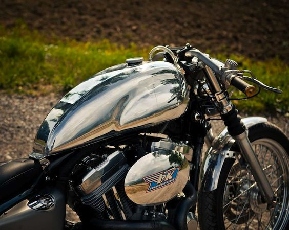 conversion kit from the Swiss company DK Motorrad will transform a plain vanilla Sportster into a beautiful café racer.